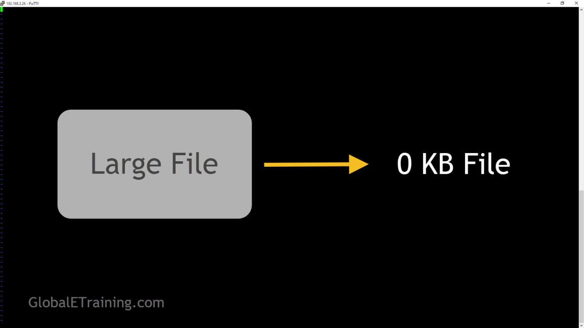 How to empty a large filequickly?