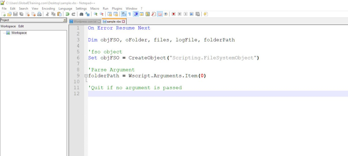 Simple VBScript to get the filenames, file sizeetc.